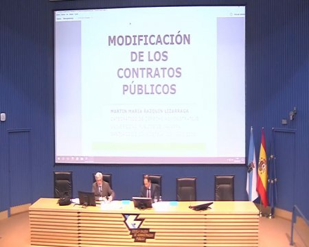 Conferencia de clausura: as modificacións contractuais  - A nova Lei de contratos do sector público na Administración local